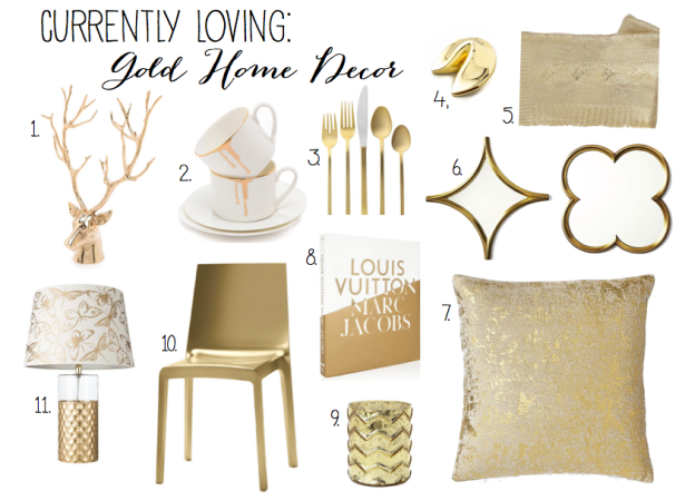 GoldHomeDecorwithnumbers